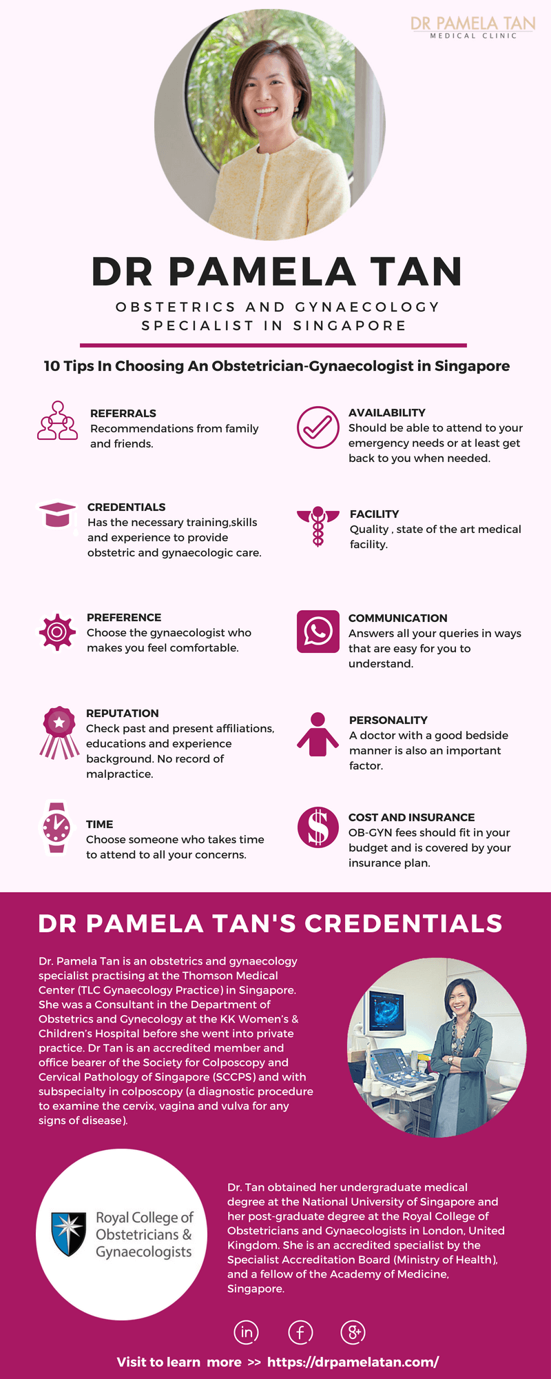 10 Tips-Choosing Obstetrician Gynecologist|Singapore(Infographic)